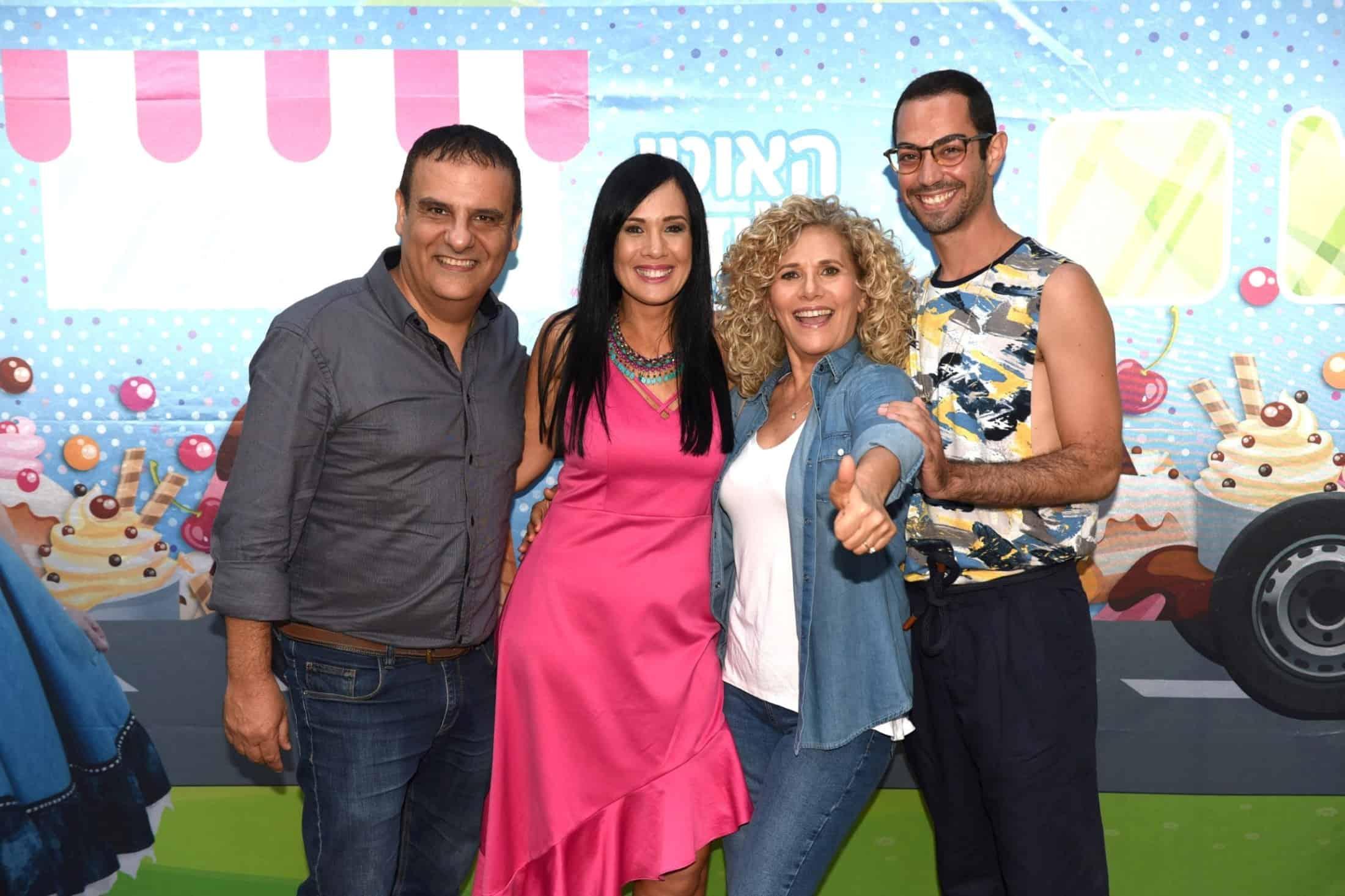 כוכבי הסדרה אסף משה עירית ענבי אתי (אסתר) קסטרו ואסף אשתר