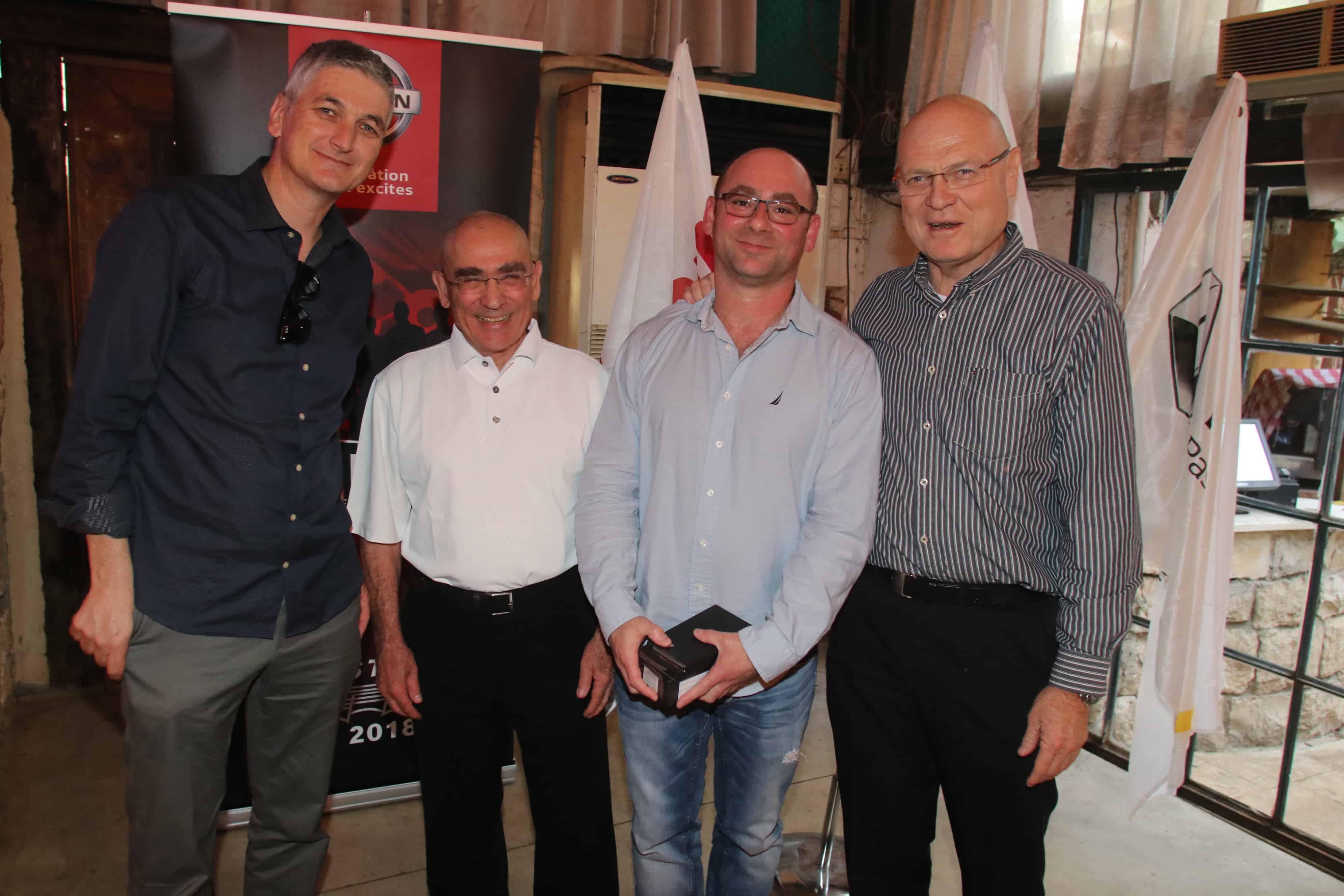 איציק וייצ, הזוכה ליאון מינקין, יואל קרסו ואסף ספקטור. צילום- ניר פקין
