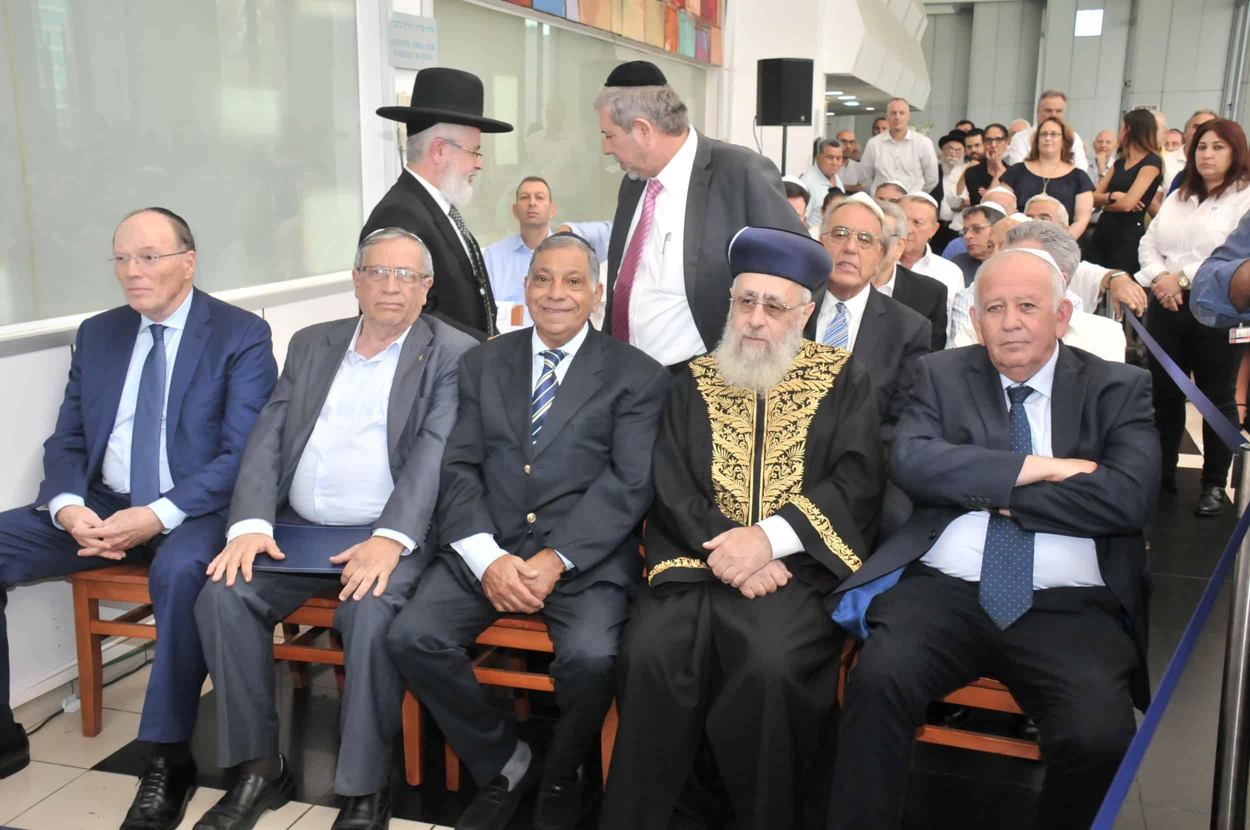 קובי קורן, הרב הראשון לציון , יעקב שלי, ישראל זינגר, שמואל שניצר. צלם